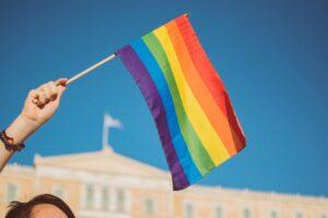 Pedro Miras - bandera mini LGTBI